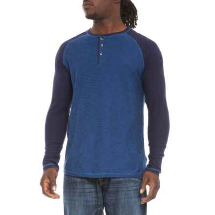 Company 81 Henley Shirt - Long Sleeve (For Men) in Navy - Closeouts