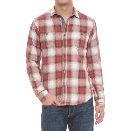 Company 81 Premier Flannel Shirt - Long Sleeve (For Men) in Spice Orange