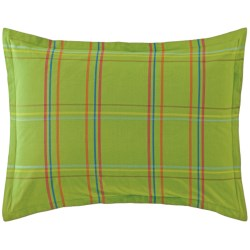 Company C Autumn Plaid Pillow Sham - King, 200 TC Cotton Percale in Clover