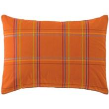 Company C Autumn Plaid Pillow Sham - King, 200 TC Cotton Percale in Orange Spice - Closeouts