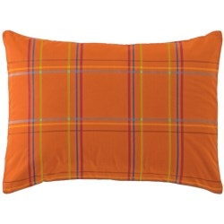 Company C Autumn Plaid Pillow Sham - King, 200 TC Cotton Percale in Orange Spice