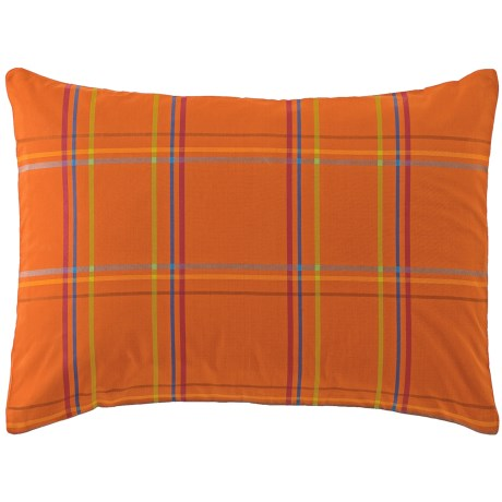 Company C Autumn Plaid Pillow Sham - Standard, 200 TC Cotton Percale in Wine