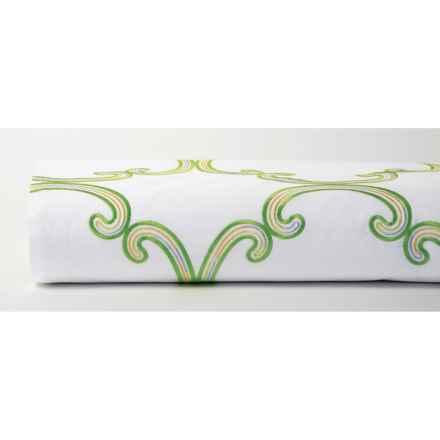 Company C Garden Trellis Duvet - Twin, 200TC Cotton Percale in Green - Closeouts