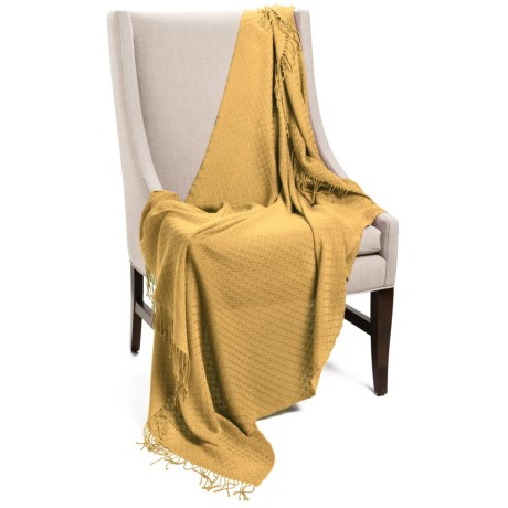 "Company C Karina Baby Alpaca Throw Blanket - Featherweight, 50x70"" in Dijon"