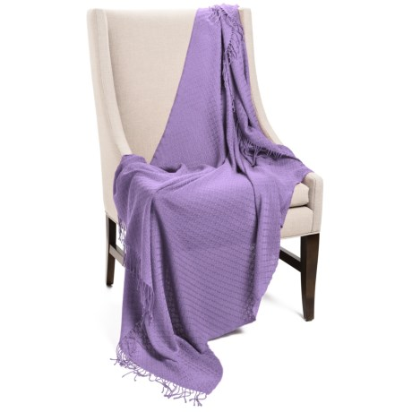 "Company C Karina Baby Alpaca Throw Blanket - Featherweight, 50x70"" in Orchid"