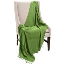 "Company C Karina Baby Alpaca Throw Blanket - Featherweight, 50x70"" in Clover - Closeouts"