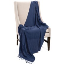 "Company C Karina Baby Alpaca Throw Blanket - Featherweight, 50x70"" in Midnight - Closeouts"