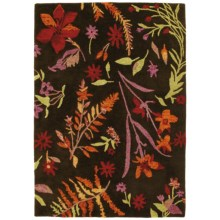 Company C Patterned Area Rug - 5x8' in Autumn Botanical Black Bean - Closeouts