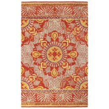 Company C Patterned Area Rug - 8x10', Tufted Wool in Oasis Red - Closeouts