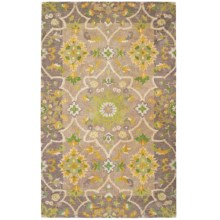 Company C Patterned Area Rug - 8x10', Tufted Wool in Tea Leaf Driftwood - Closeouts