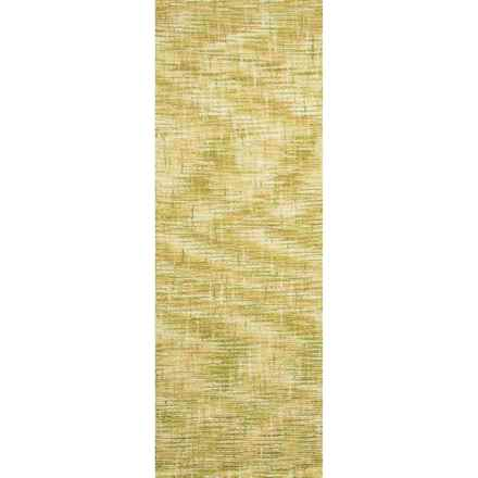 "Company C Patterned Floor Runner - 2'6""x8', Tufted Wool in Tweedy Willow - Closeouts"