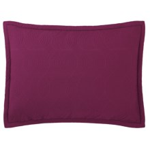 Company C Shimmer Quilted Pillow Sham - Standard, Cotton Sateen, Reversible in Wine - Closeouts