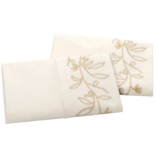 Company C Vinca Pillowcases - Standard, 200 TC in Golden Wheat - Closeouts