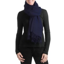 "Company C Wool Tutti Colori Featherweight Wrap - 40x80"" in Navy - Closeouts"