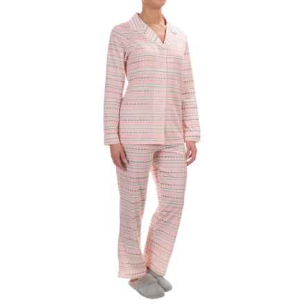 Company Ellen Tracy Classic Pajamas - Long Sleeve (For Women) in Ivory Print - Closeouts