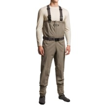 Compass 360 Stillwater Breathable Chest Waders - Stockingfoot (For Men) in Khaki/Storm Grey - Closeouts