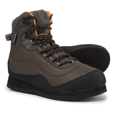Compass 360 Tailwater Wading Boots - Felt Sole (For Men) in Coffee/Black