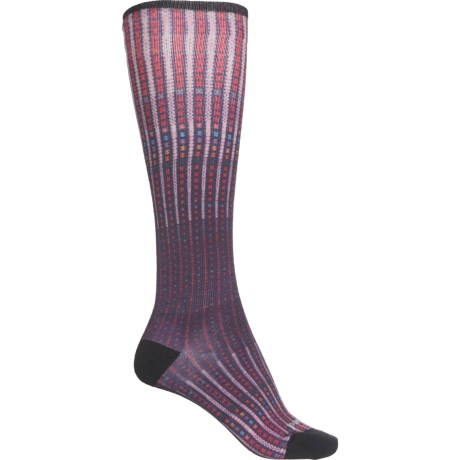 Compression Virtual Voyager Print Socks - Merino Wool, Over the Calf (For Women) - MOUNTAIN PURPLE (S ) -  SmartWool