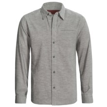 Comstock & Co. Heather Corduroy Shirt - Long Sleeve (For Men) in Grey Heather - Closeouts