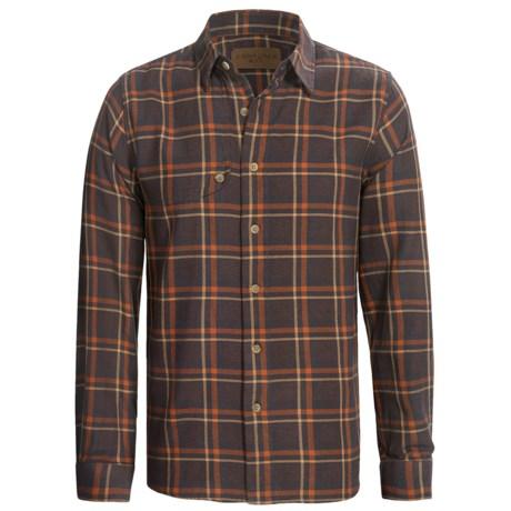 Comstock & Co. Twist Yarn Dye Shirt - Long Sleeve (For Men) in Rust