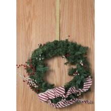Conant Basket Weave Brass Wreath Hanger in Brass - Closeouts