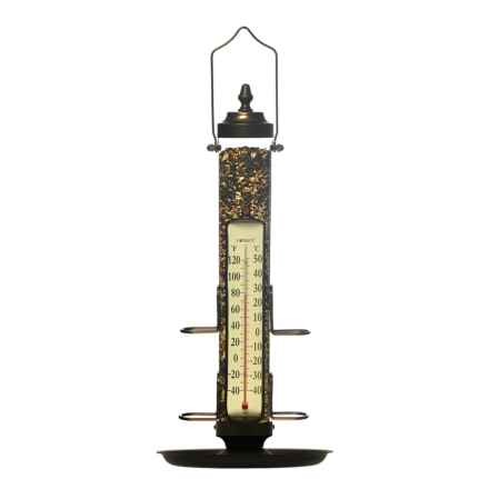 "Conant Bird Feeder with Thermometer and Tray - 21"" in Bronze - Overstock"