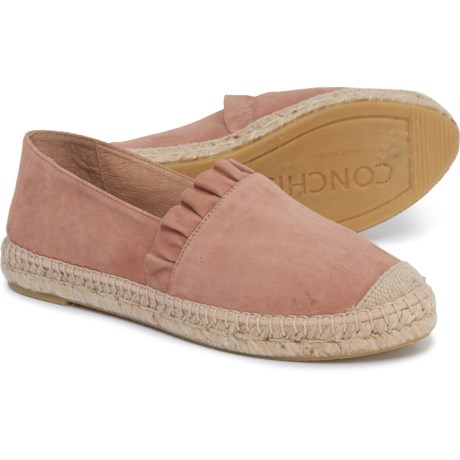 c8541179cd5 CONCHISA Made in Spain Ruffle Espadrilles - Suede (For Women) in Tuscany  Blush