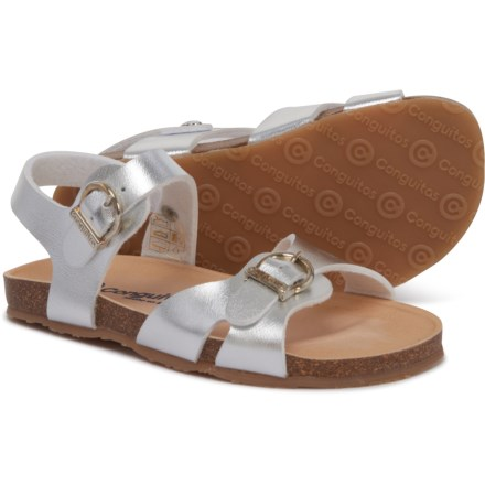 CONGUITOS Made in Spain Casual Sandals (For Girls) in Plata
