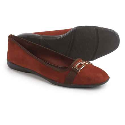 Contesa by Italian Shoemakers Isa Shoes - Suede (For Women) in Rust Suede - Closeouts