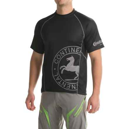 Continental Conti Enduro Cycling Jersey - Short Sleeve (For Men) in Black - Closeouts