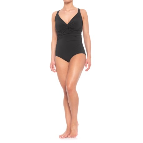 Image of Contours Sapphire Twist One-Piece Swimsuit - Underwire (For Women)