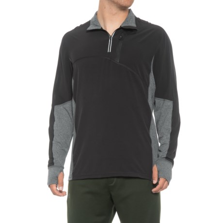 Image of Contra Running Shirt - Zip Neck, Long Sleeve (For Men)