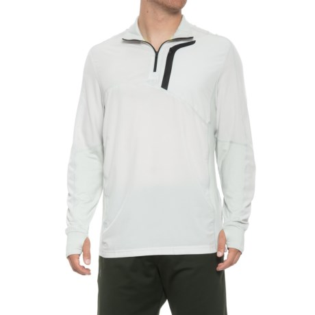 Image of Contra Running Shirt - Zip Neck, Long Sleeve (For Men)