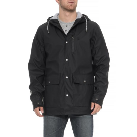 Image of Contrast Jersey-Lined Rain Slicker - Waterproof (For Men)