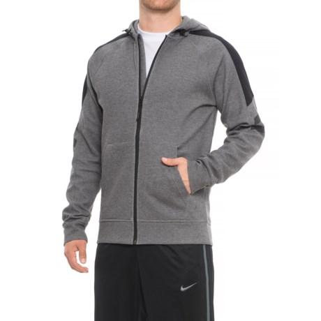 Image of Contrast Shoulder Hoodie - Zip Front (For Men)