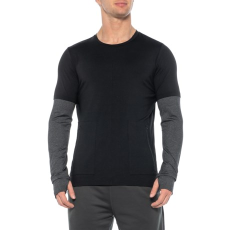 Image of Contrast Sleeve Shirt - Long Sleeve (For Men)