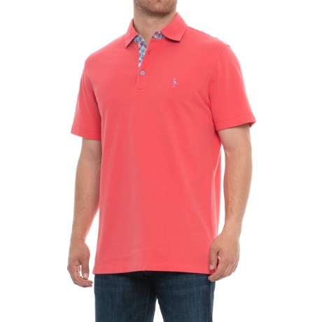 Image of Contrast Under Collar Polo Shirt - Short Sleeve (For Men)