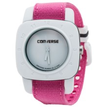 Converse 1908 Canvas Strap Analog Watch (For Women) in Pink - Closeouts