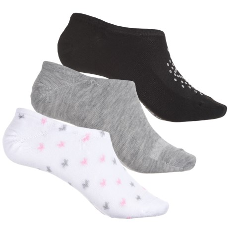 Converse Chuck Liner Socks - 3-Pack, Below the Ankle (For Women) in Black/Grey/White