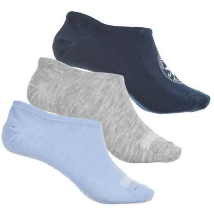 Converse Chuck Liner Socks - 3-Pack, Below the Ankle (For Women) in Navy/Grey/Blue - Closeouts