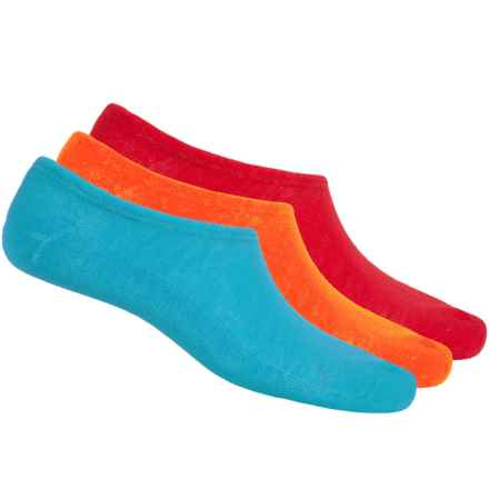 Converse Chuck Socks - 3-Pack, Below the Ankle (For Men) in Blue/Red/Orange - Closeouts