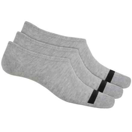 Converse Chuck Socks - 3-Pack, Below the Ankle (For Men) in Heather Grey - Closeouts