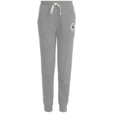 Converse Fleece Joggers (For Big Kids) in Vintage Grey Heather - Closeouts