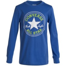 Converse Graphic Shirt - Long Sleeve (For Big Boys) in Oxygen Blue - Closeouts