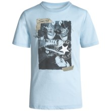 Converse Graphic T-Shirt - Short Sleeve (For Big Boys) in Ambient Blue - Closeouts