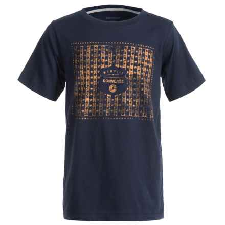 Converse Graphic T-Shirt - Short Sleeve (For Big Boys) in Navy - Closeouts