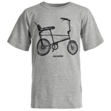 Converse Graphic T-Shirt - Short Sleeve (For Big Boys) in Vintage Grey Heather - Closeouts