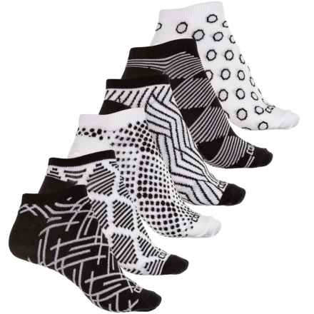 Converse No-Show Socks - 6-Pack, Below the Ankle (For Women) in Black/White Graphic - Closeouts