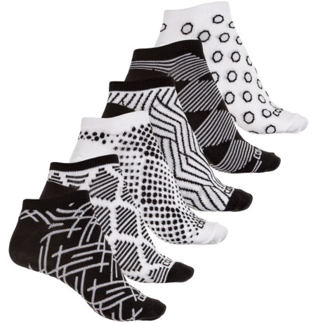 Converse No-Show Socks - 6-Pack, Below the Ankle (For Women) in Black/White Graphic