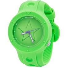 Converse Rookie Analog Watch - Silicone Strap (For Men) in Neon Green - Closeouts